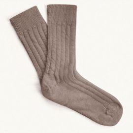 Alpaca Bed Socks - Grey