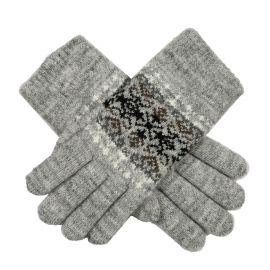 Fairisle Gloves Grey