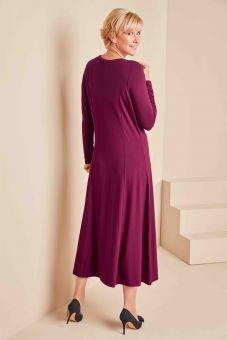 Essential Round Neck Dress - Berry