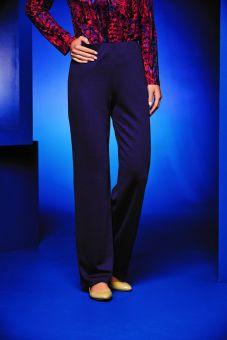 Wool Mix Jersey Trousers - Purple