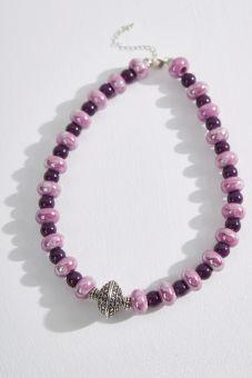Purple Porcelain Necklace