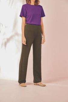 Wool Mix Jersey Trousers
