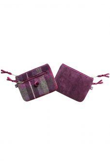 Tweed Emily Purse - Purple