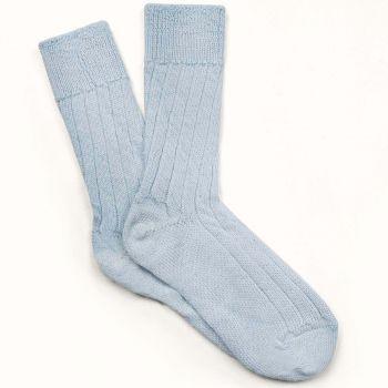 Alpaca Bed Socks - Blue