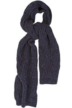 Lace Marl Scarf - Navy