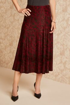 Peacock Paisley Skirt