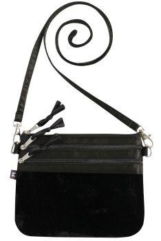 Becca Velvet Bag - Black
