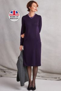 Luxury Wool Blend Pocket Dress - 2 colours available