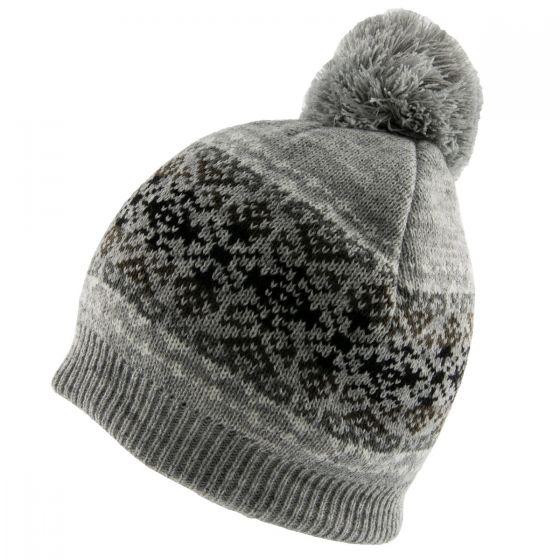 Fairisle Hat Grey