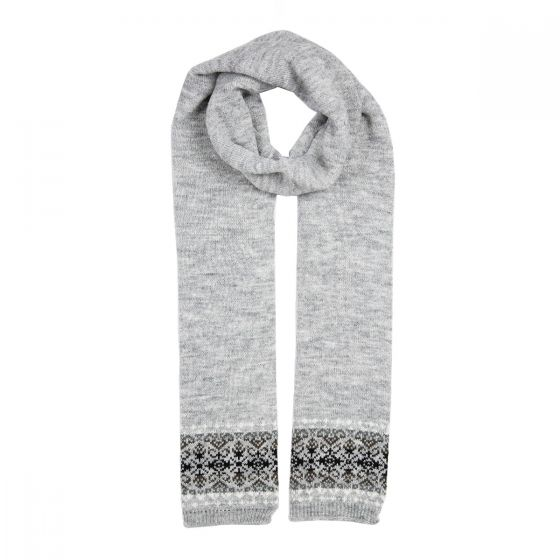Fairisle Scarf Grey