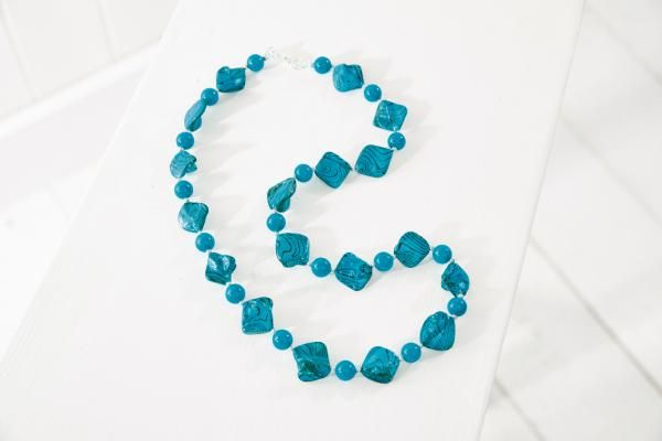 Moroccan Blue Necklace