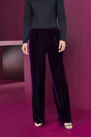 Velvet Pull On Trousers
