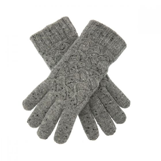 Lace marl gloves Grey