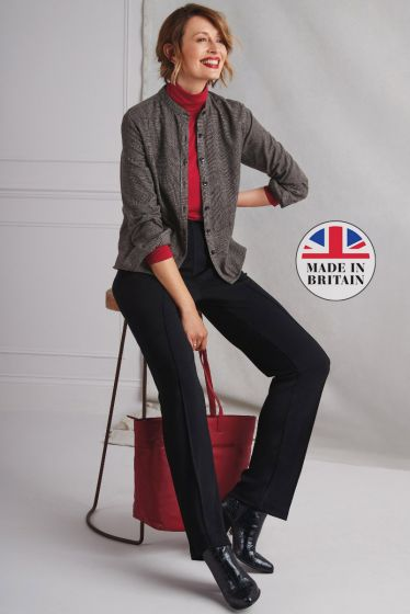 Luxe wool blend seam trousers