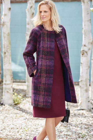 Sandringham Coat - Purple