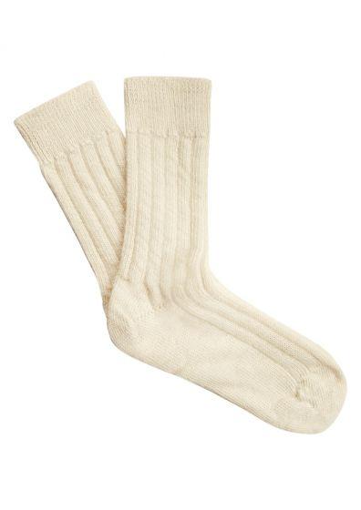 Alpaca Bed Socks - Cream
