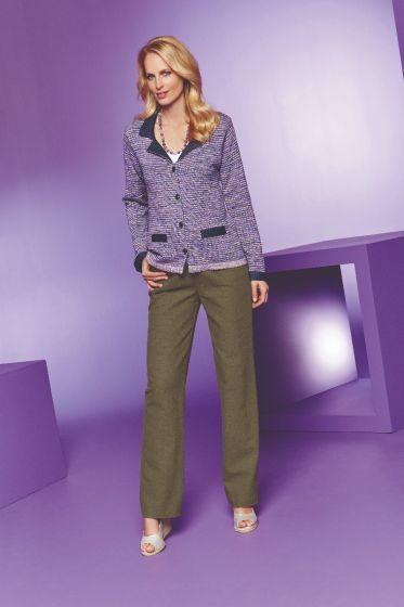 Linen Cotton Mix Trousers - Olive