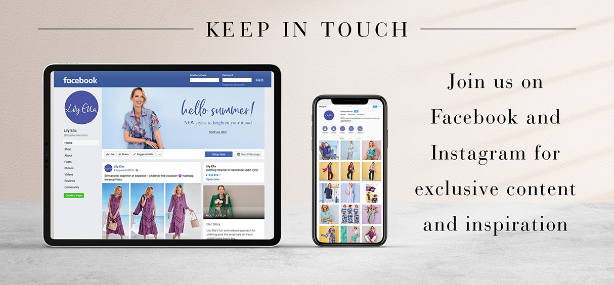 Keep in touch on Facebook & Instagram
